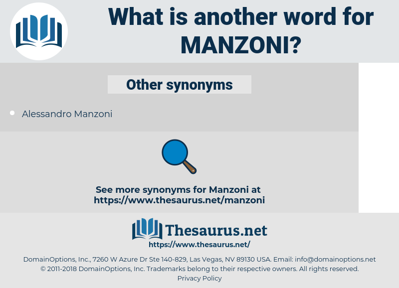 Manzoni, synonym Manzoni, another word for Manzoni, words like Manzoni, thesaurus Manzoni