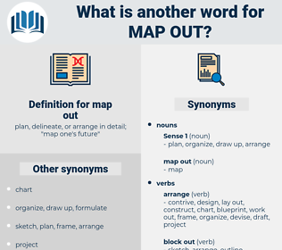 map out, synonym map out, another word for map out, words like map out, thesaurus map out