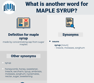 maple syrup, synonym maple syrup, another word for maple syrup, words like maple syrup, thesaurus maple syrup