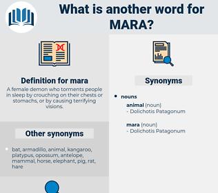 mara, synonym mara, another word for mara, words like mara, thesaurus mara