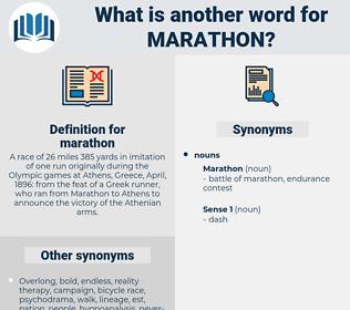 marathon, synonym marathon, another word for marathon, words like marathon, thesaurus marathon