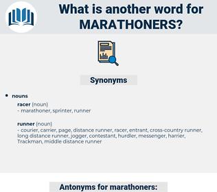 marathoners, synonym marathoners, another word for marathoners, words like marathoners, thesaurus marathoners