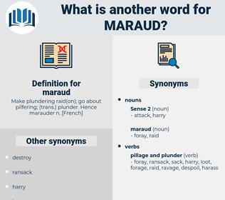 maraud, synonym maraud, another word for maraud, words like maraud, thesaurus maraud