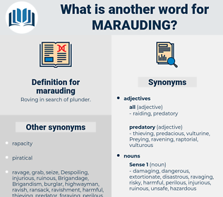 marauding, synonym marauding, another word for marauding, words like marauding, thesaurus marauding