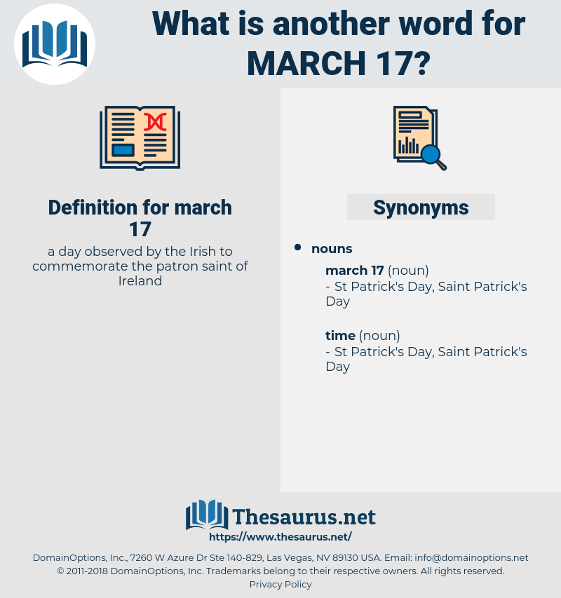 march 17, synonym march 17, another word for march 17, words like march 17, thesaurus march 17