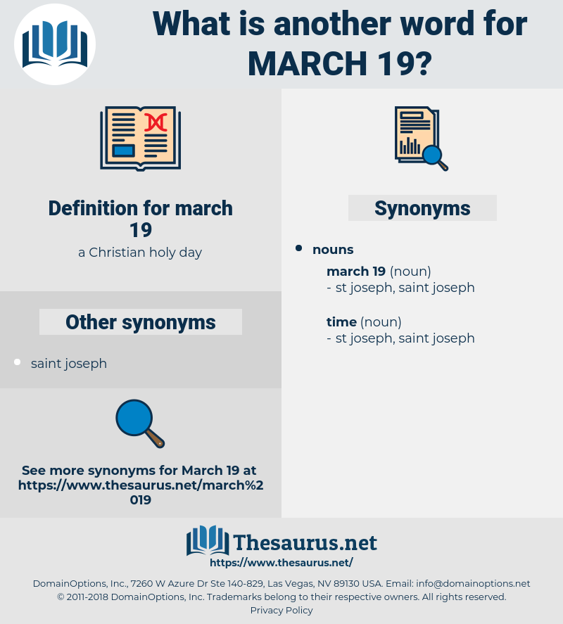 march 19, synonym march 19, another word for march 19, words like march 19, thesaurus march 19