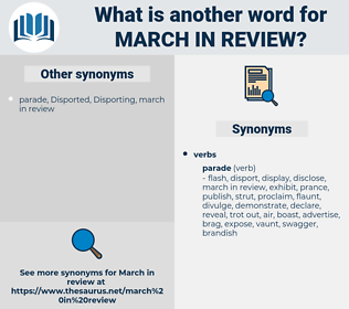 march in review, synonym march in review, another word for march in review, words like march in review, thesaurus march in review