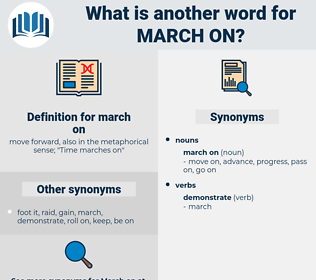 march on, synonym march on, another word for march on, words like march on, thesaurus march on