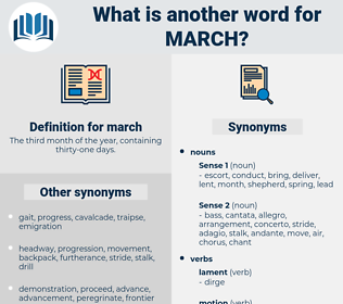 march, synonym march, another word for march, words like march, thesaurus march