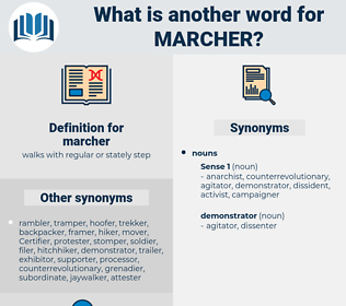 marcher, synonym marcher, another word for marcher, words like marcher, thesaurus marcher