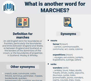 marches, synonym marches, another word for marches, words like marches, thesaurus marches