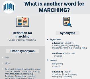 marching, synonym marching, another word for marching, words like marching, thesaurus marching