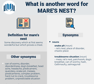 mare's nest, synonym mare's nest, another word for mare's nest, words like mare's nest, thesaurus mare's nest