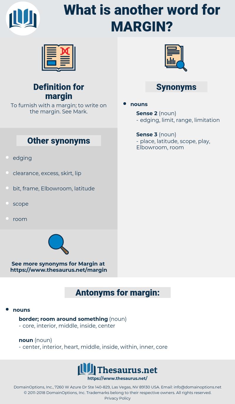 margin, synonym margin, another word for margin, words like margin, thesaurus margin