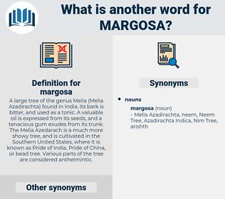 margosa, synonym margosa, another word for margosa, words like margosa, thesaurus margosa