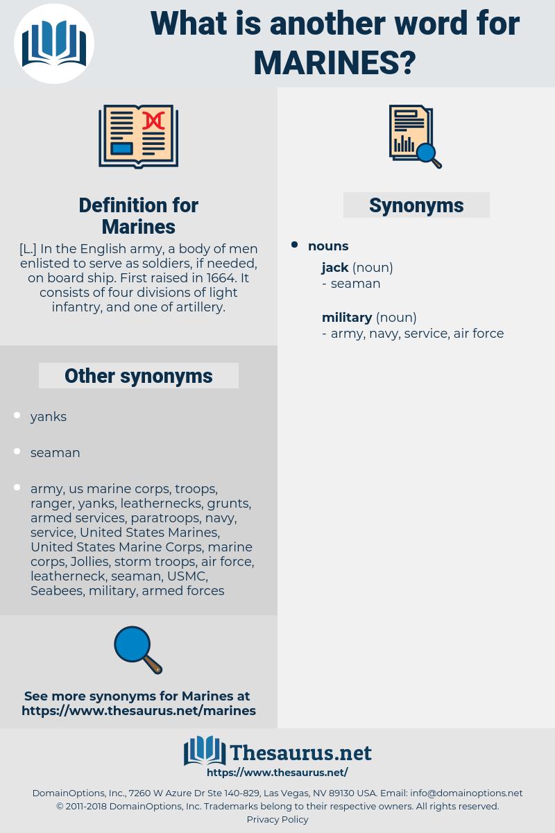 Marines, synonym Marines, another word for Marines, words like Marines, thesaurus Marines