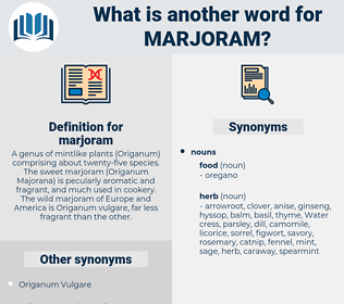 marjoram, synonym marjoram, another word for marjoram, words like marjoram, thesaurus marjoram