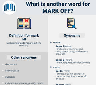mark off, synonym mark off, another word for mark off, words like mark off, thesaurus mark off