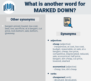 marked down, synonym marked down, another word for marked down, words like marked down, thesaurus marked down