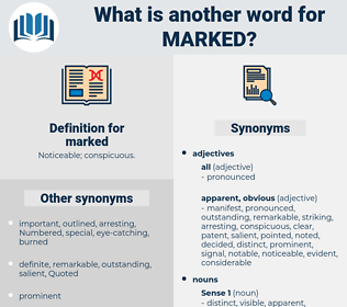 marked, synonym marked, another word for marked, words like marked, thesaurus marked