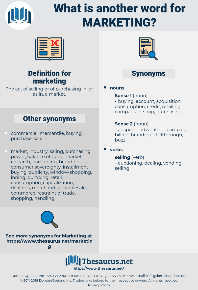 marketing, synonym marketing, another word for marketing, words like marketing, thesaurus marketing