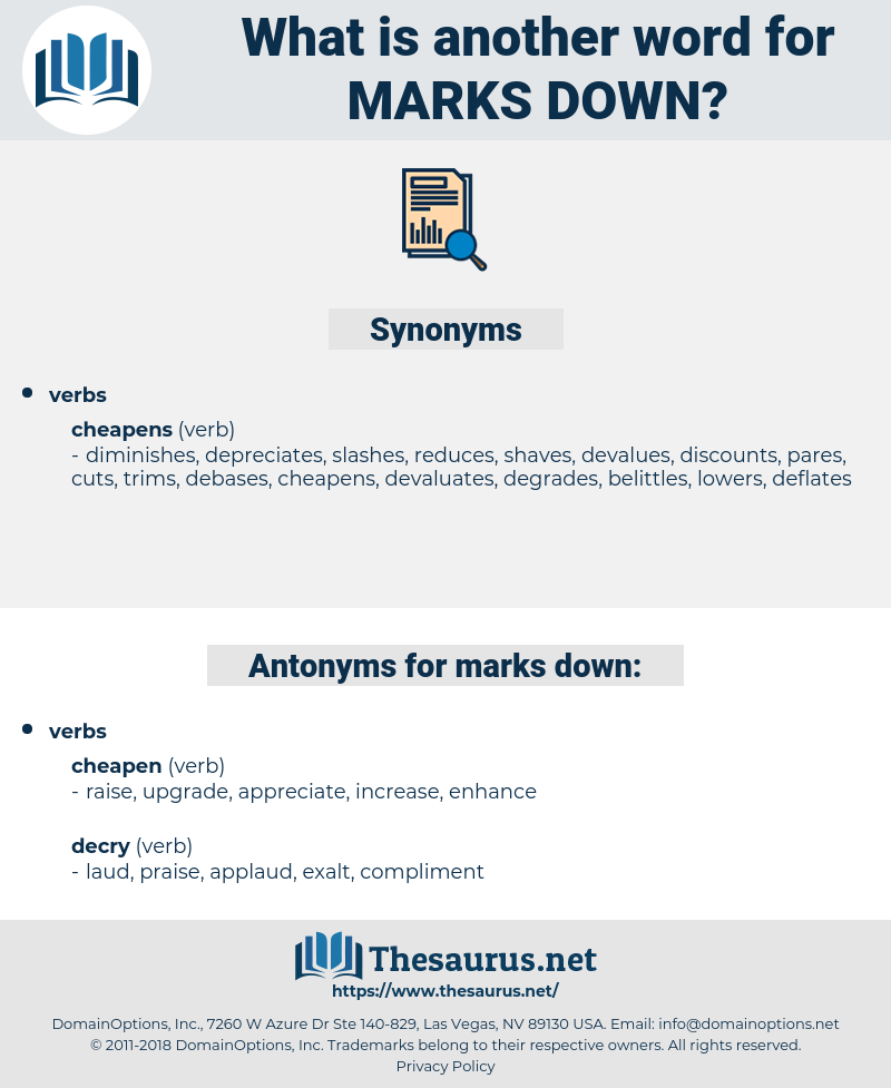 marks down, synonym marks down, another word for marks down, words like marks down, thesaurus marks down