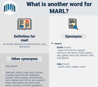 marl, synonym marl, another word for marl, words like marl, thesaurus marl