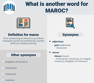 maroc, synonym maroc, another word for maroc, words like maroc, thesaurus maroc