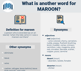 maroon, synonym maroon, another word for maroon, words like maroon, thesaurus maroon