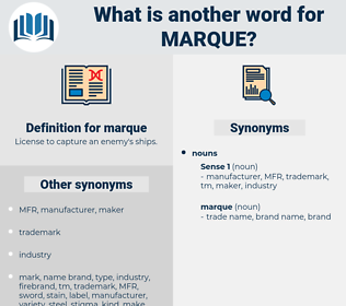 marque, synonym marque, another word for marque, words like marque, thesaurus marque