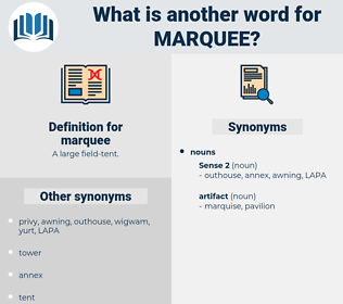marquee, synonym marquee, another word for marquee, words like marquee, thesaurus marquee