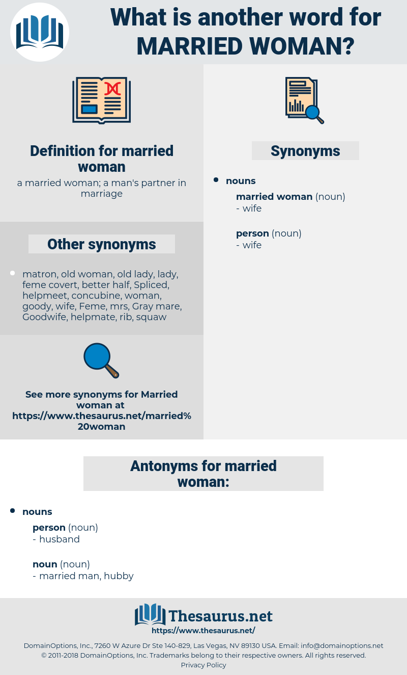 married woman, synonym married woman, another word for married woman, words like married woman, thesaurus married woman