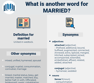 married, synonym married, another word for married, words like married, thesaurus married