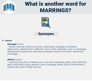 marrings, synonym marrings, another word for marrings, words like marrings, thesaurus marrings