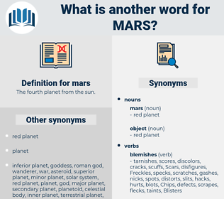 mars, synonym mars, another word for mars, words like mars, thesaurus mars