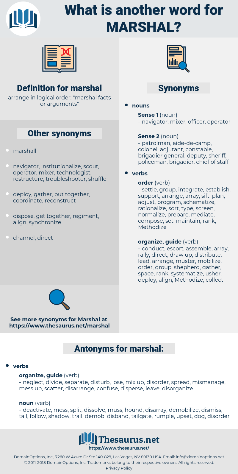 marshal, synonym marshal, another word for marshal, words like marshal, thesaurus marshal