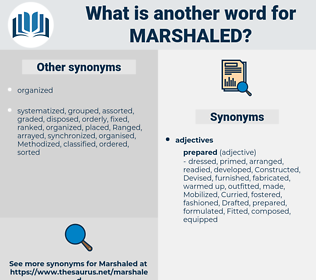 Marshaled, synonym Marshaled, another word for Marshaled, words like Marshaled, thesaurus Marshaled