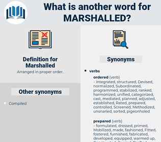 Marshalled, synonym Marshalled, another word for Marshalled, words like Marshalled, thesaurus Marshalled
