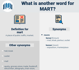 mart, synonym mart, another word for mart, words like mart, thesaurus mart