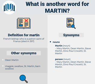 martin, synonym martin, another word for martin, words like martin, thesaurus martin