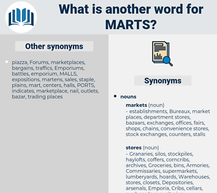 marts, synonym marts, another word for marts, words like marts, thesaurus marts