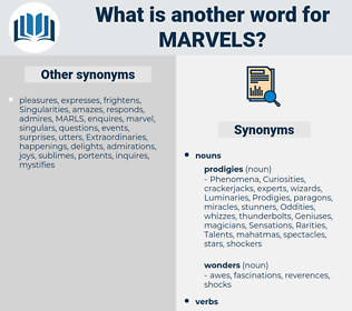 marvels, synonym marvels, another word for marvels, words like marvels, thesaurus marvels