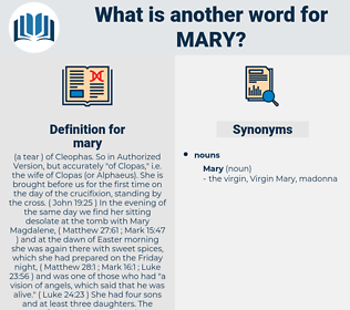 mary, synonym mary, another word for mary, words like mary, thesaurus mary