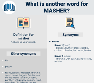 masher, synonym masher, another word for masher, words like masher, thesaurus masher
