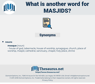 masjids, synonym masjids, another word for masjids, words like masjids, thesaurus masjids