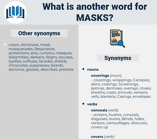 Masks, synonym Masks, another word for Masks, words like Masks, thesaurus Masks