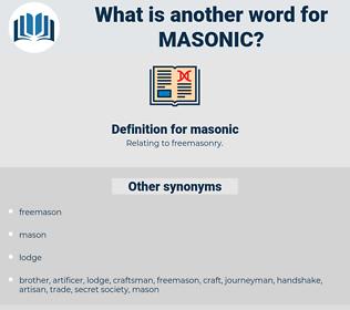 masonic, synonym masonic, another word for masonic, words like masonic, thesaurus masonic