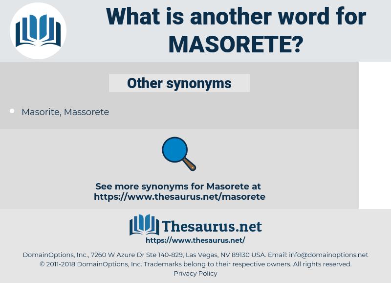 Masorete, synonym Masorete, another word for Masorete, words like Masorete, thesaurus Masorete