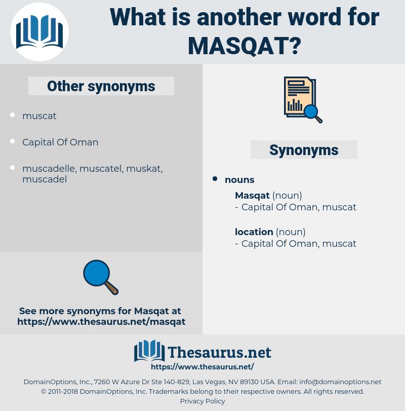 masqat, synonym masqat, another word for masqat, words like masqat, thesaurus masqat