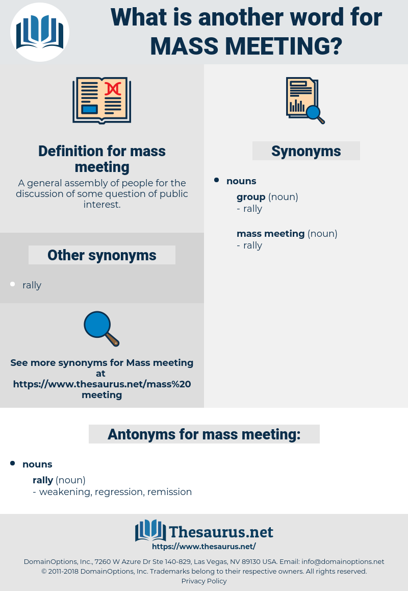 mass meeting, synonym mass meeting, another word for mass meeting, words like mass meeting, thesaurus mass meeting